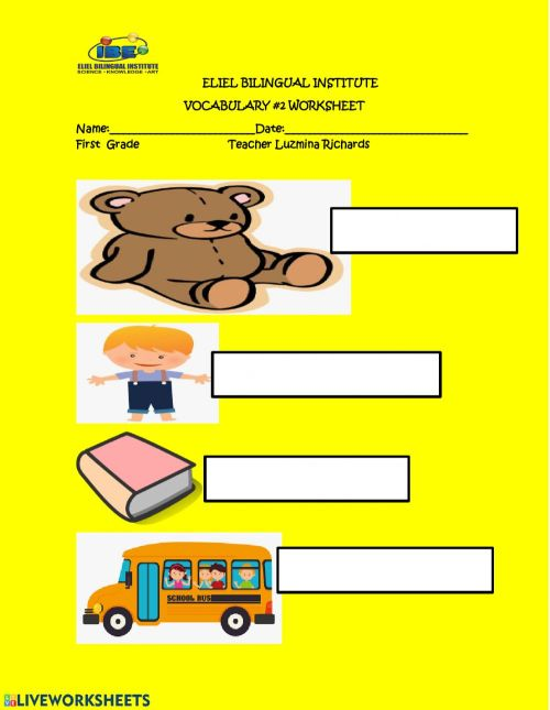 small resolution of Vocabulary -2 letter b worksheet