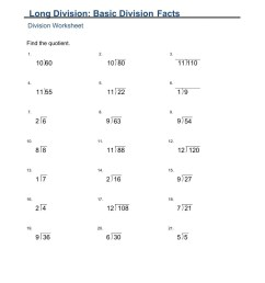 MA2-Monday (Long Division Basic Division Facts) worksheet [ 1291 x 1000 Pixel ]