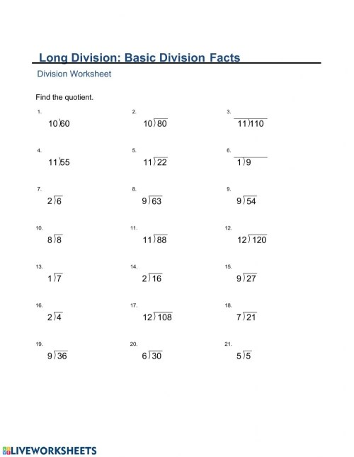 small resolution of MA2-Monday (Long Division Basic Division Facts) worksheet