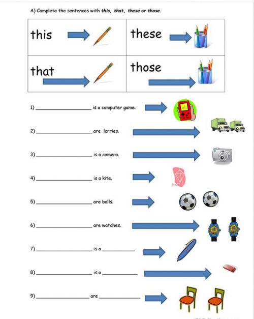 small resolution of Demonstrative Pronouns worksheet for Pre-intermediate