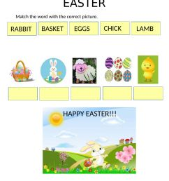 Easter vocabulary interactive activity [ 1291 x 1000 Pixel ]