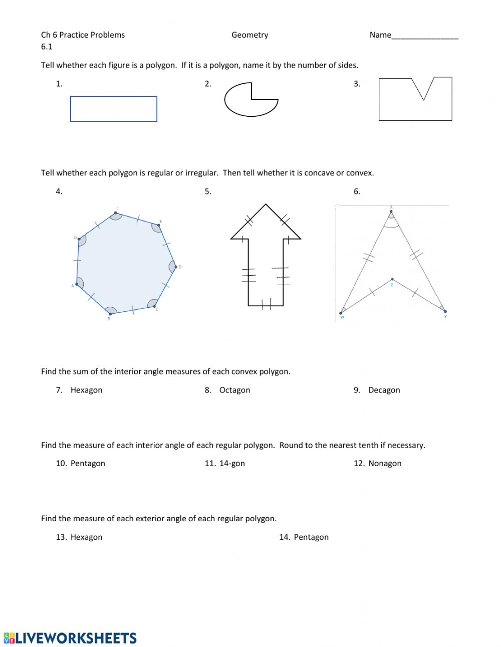 hight resolution of Polygons and Quadrilaterals worksheet