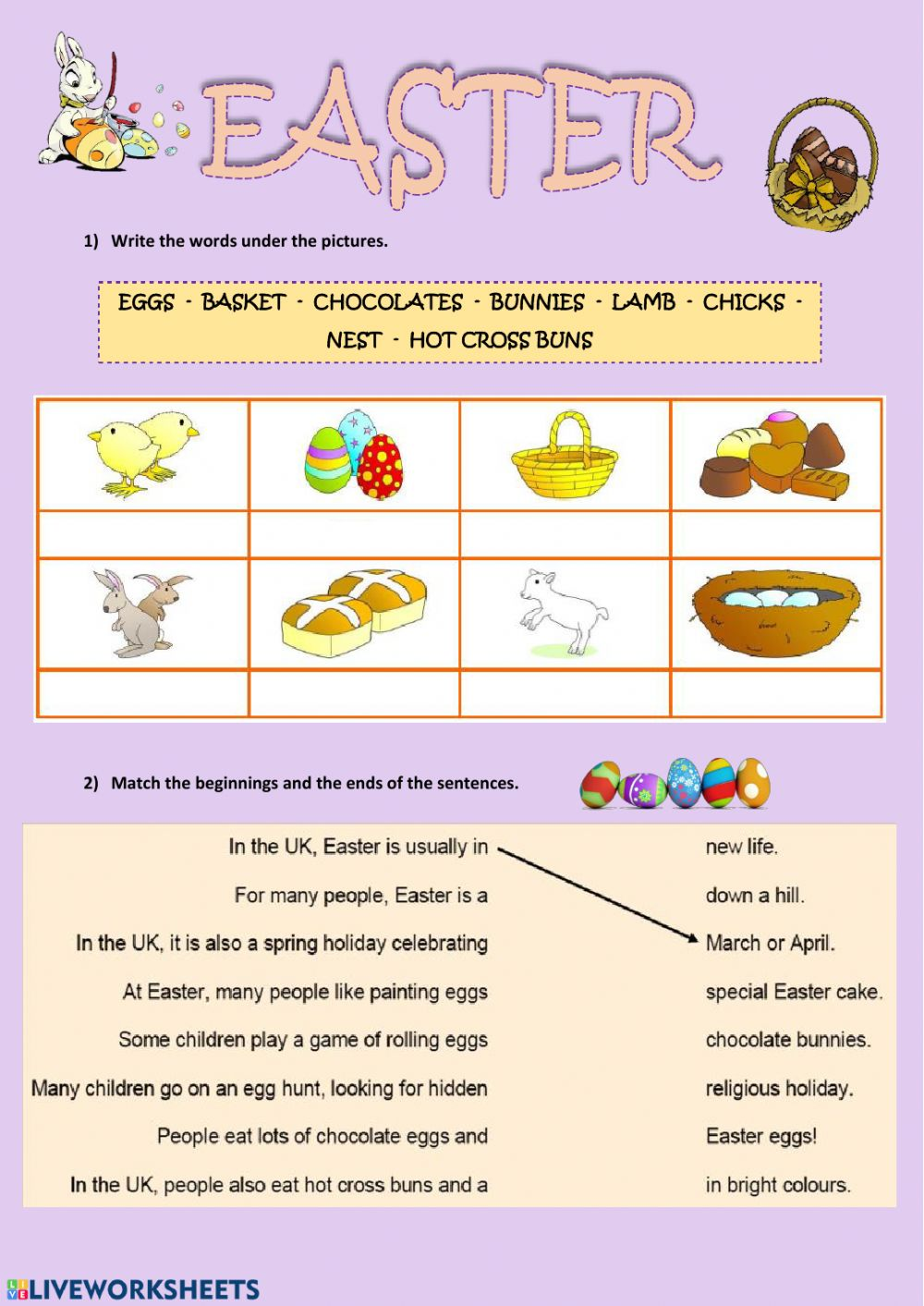 hight resolution of Easter online activity for Teens