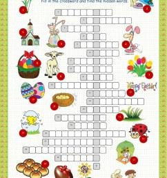 Easter crossword interactive worksheet [ 1413 x 1000 Pixel ]
