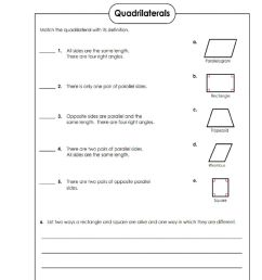 Quadrilaterals worksheet [ 1291 x 1000 Pixel ]