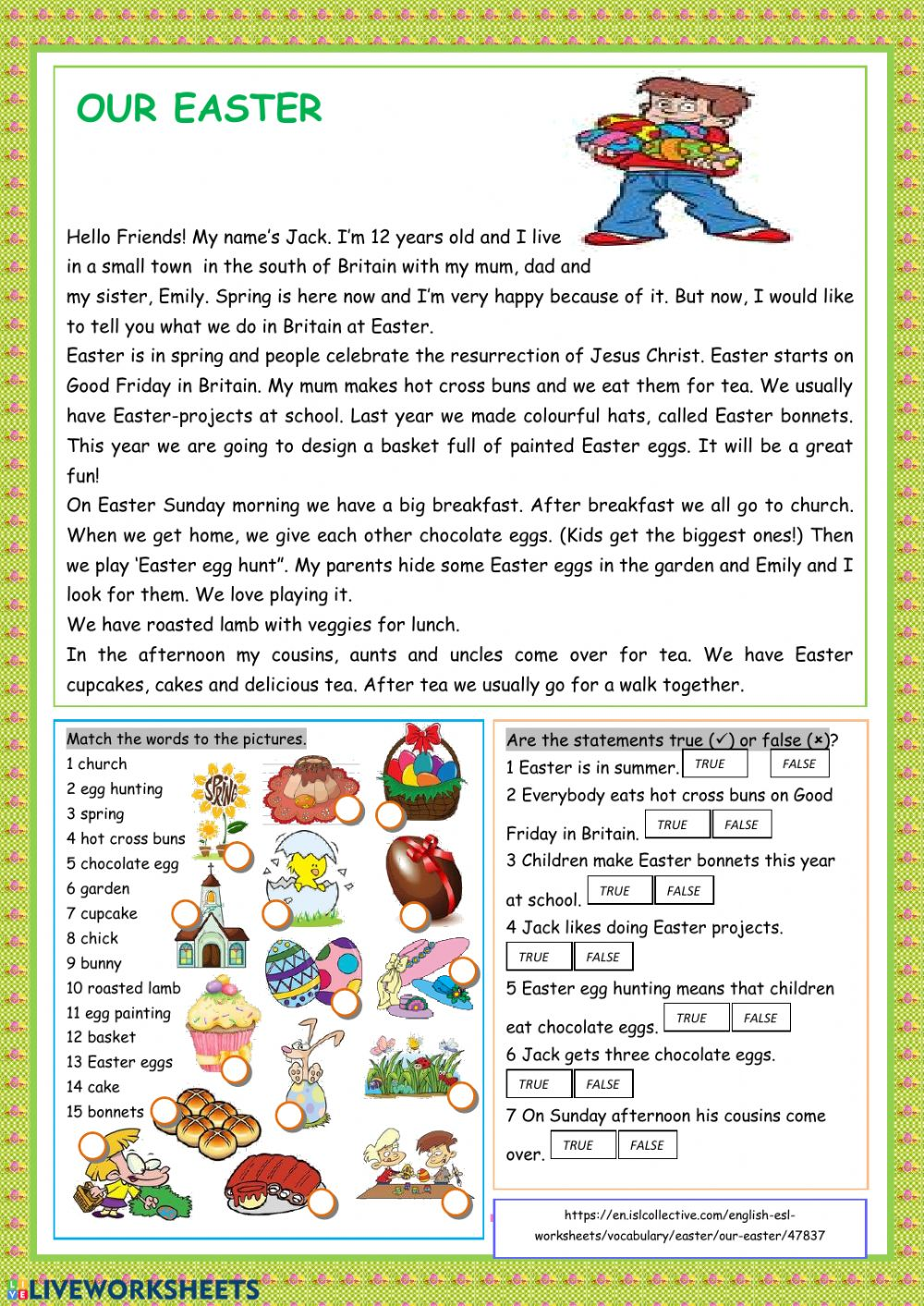 medium resolution of Easter free exercise