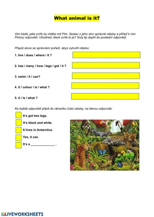 small resolution of Animals online activity for Grade 5