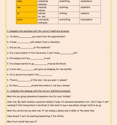 Indefinite pronouns \u0026quantifieres worksheet [ 1413 x 1000 Pixel ]