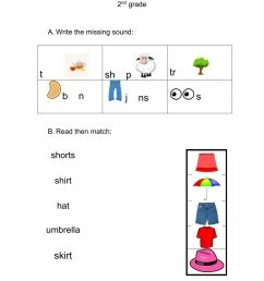 Clothes interactive worksheet for grade 1 [ 1413 x 1000 Pixel ]