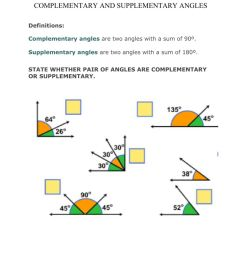 Complementary and Supplementary angles worksheet [ 1291 x 1000 Pixel ]