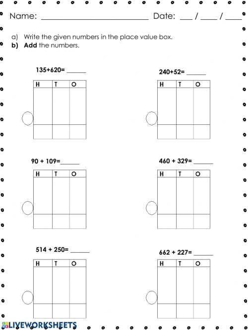 small resolution of 3-digit numbers addition worksheet
