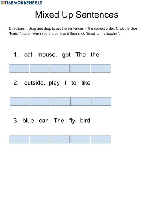 small resolution of Mixed Up Sentences 2 worksheet