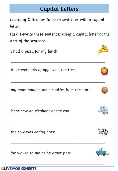 small resolution of Capital Letter Practice worksheet