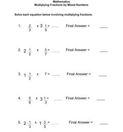 Multiplying Fractions by a Mixed Number worksheet [ 1291 x 1000 Pixel ]