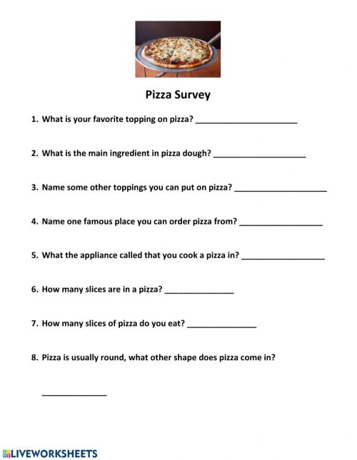 small resolution of Pizza Survey worksheet