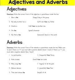 Comparative and Superlative Adjectives and Adverbs (4th grade) worksheet [ 1291 x 1000 Pixel ]