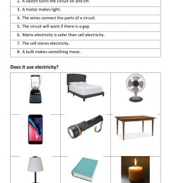 Electricity Review worksheet [ 1413 x 1000 Pixel ]