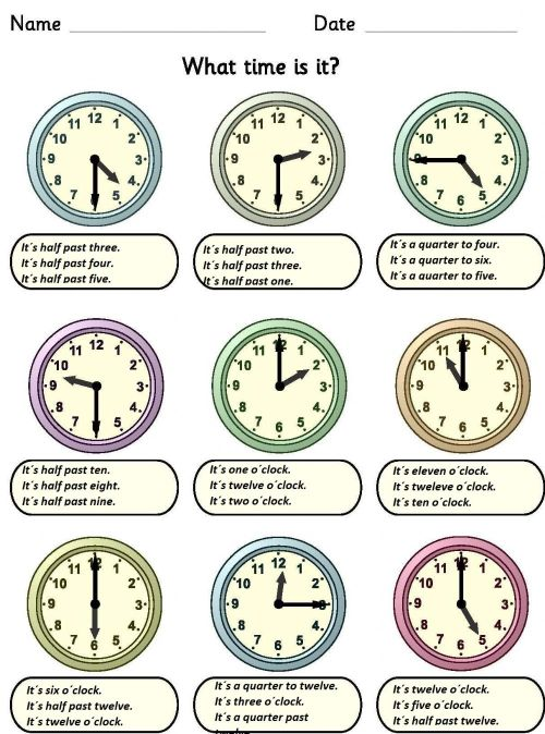 small resolution of What time is it? interactive activity for Grade 4