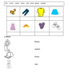 Clothes online exercise for GRADE 1 [ 1413 x 1000 Pixel ]