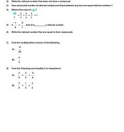 Rational Numbers worksheet [ 1413 x 1000 Pixel ]