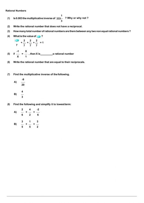 small resolution of Rational Numbers worksheet