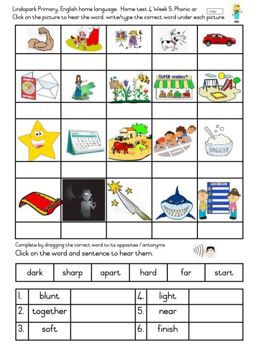 small resolution of Grade 3: English Home-test 4 Term 2 Week 5: Friday. worksheet