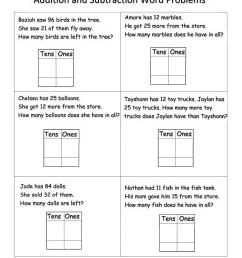 Addition and Subtraction Word Problems interactive worksheet [ 1291 x 1000 Pixel ]