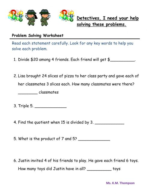 small resolution of Worded Problem Solving worksheet