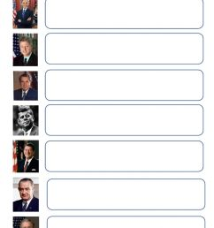 A few US Presidents worksheet [ 1413 x 1000 Pixel ]