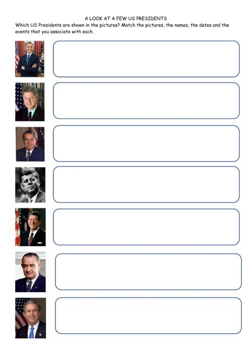 small resolution of A few US Presidents worksheet