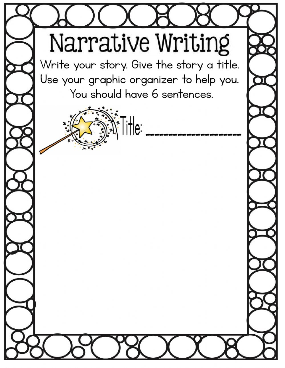 medium resolution of Narrative writing worksheet