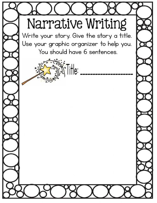 small resolution of Narrative writing worksheet