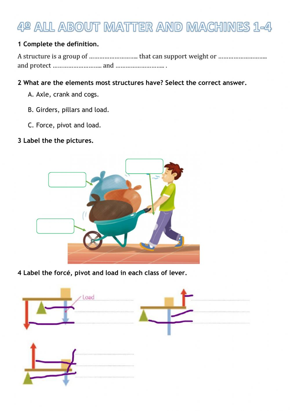 hight resolution of 4º All about machines worksheet