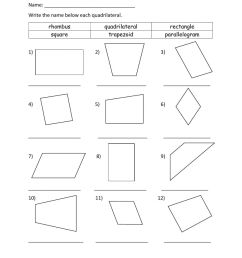 Identifying Quadrilateral worksheet [ 1291 x 1000 Pixel ]