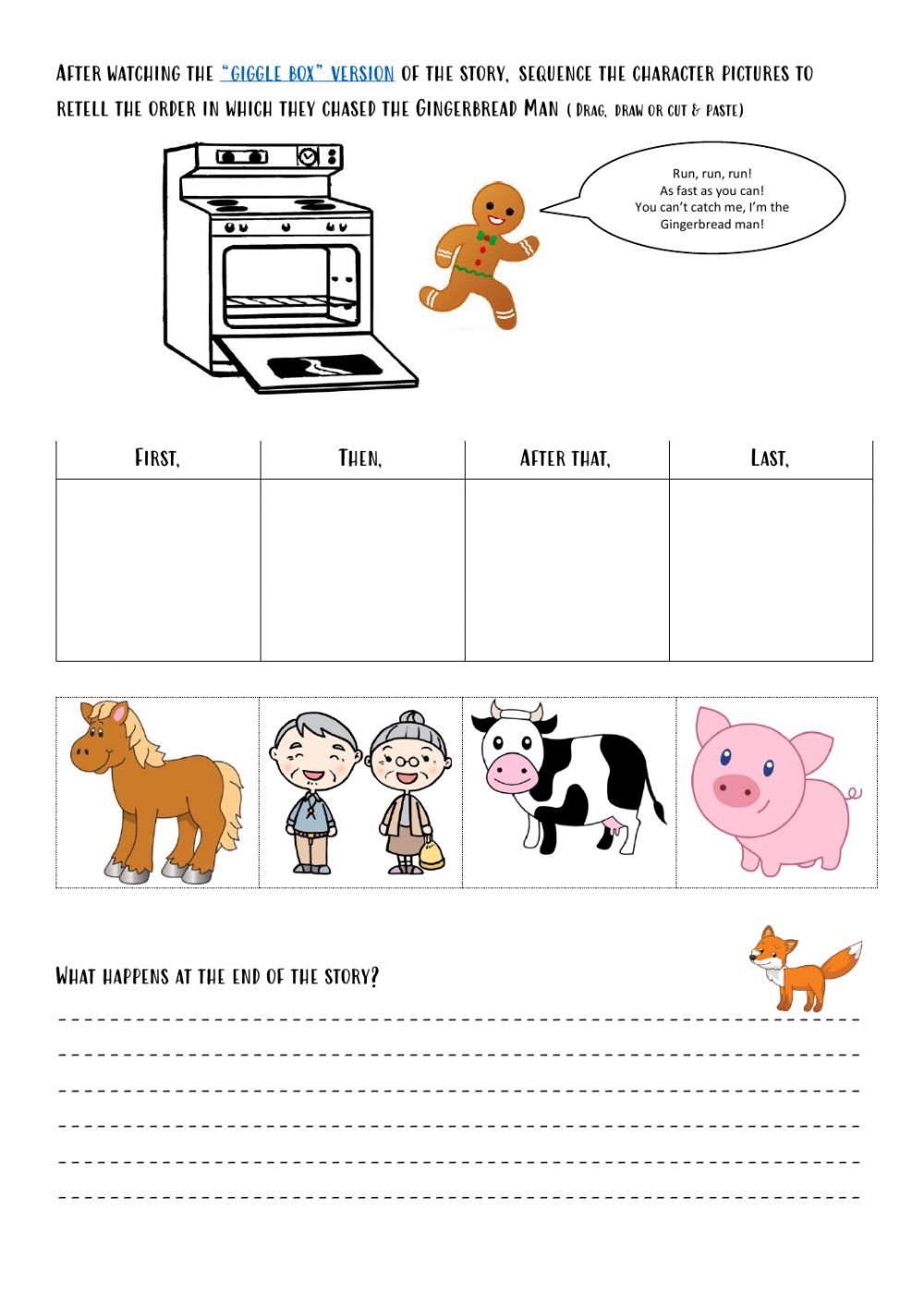 hight resolution of Gingerbread man Sequencing worksheet