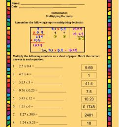 Multiplying Decimals interactive worksheet [ 1291 x 1000 Pixel ]