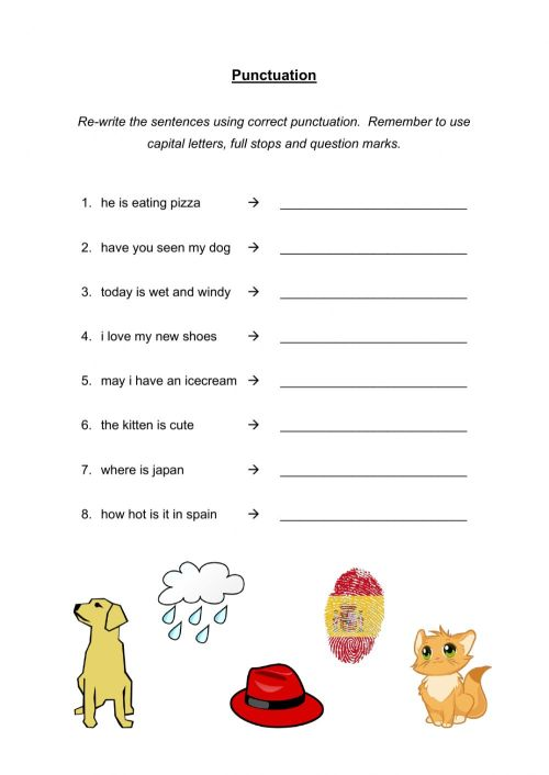 small resolution of Correct the Punctuation worksheet