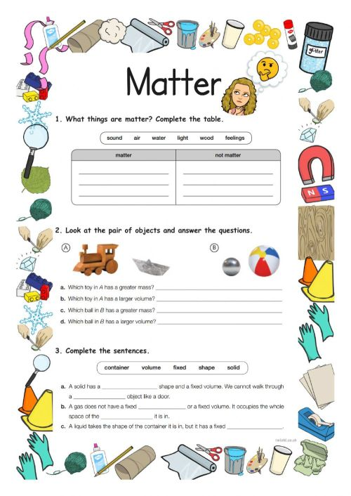 small resolution of Matter Y3 worksheet