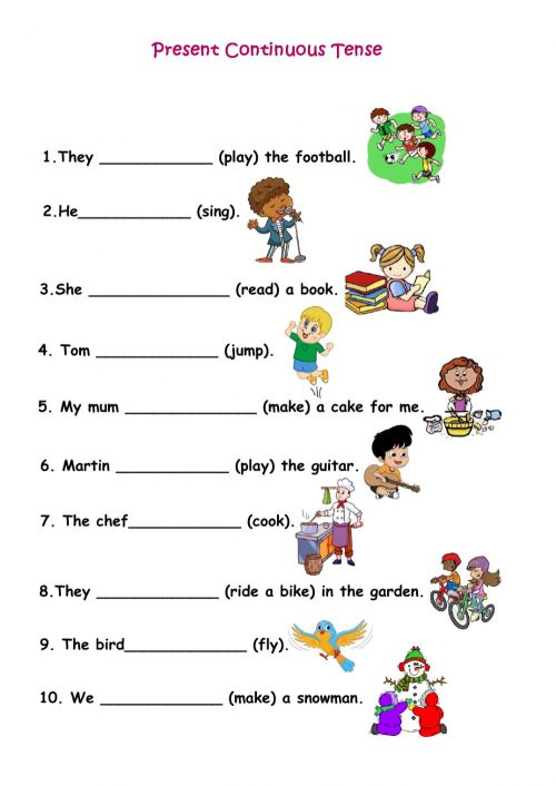 small resolution of Present Continuous Tense interactive activity for Grade 2