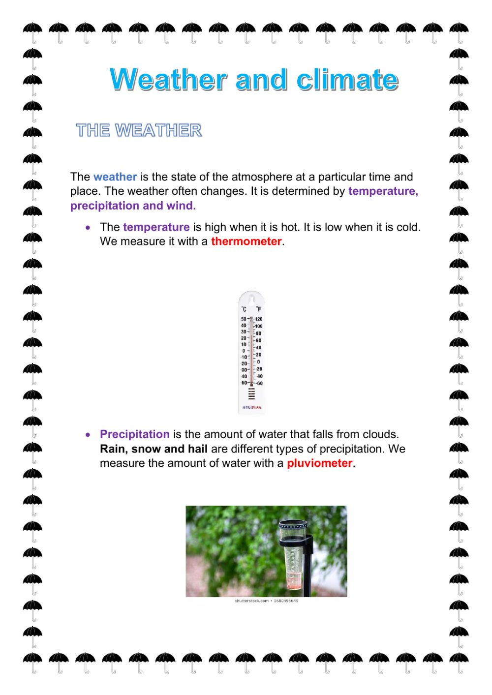 hight resolution of Weather and climate activity