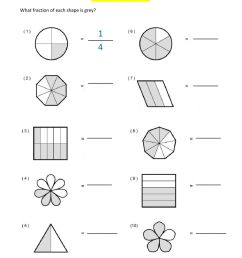 Introduction to Fractions worksheet [ 1291 x 1000 Pixel ]