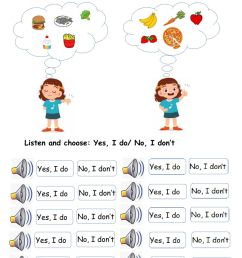 Do you like? online exercise for Grade 1 [ 1413 x 1000 Pixel ]