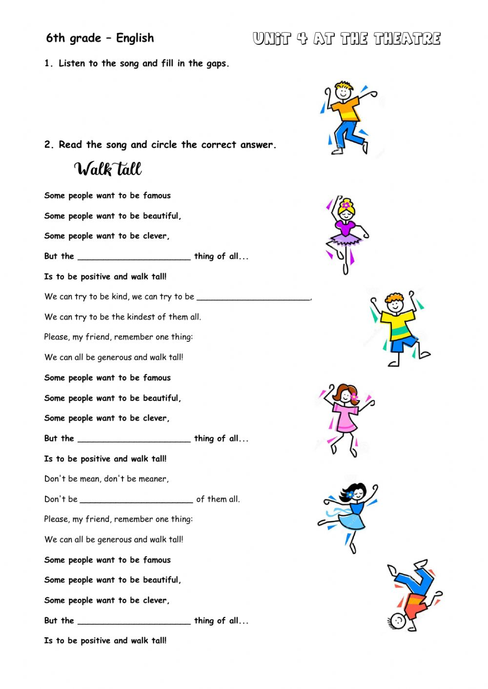 medium resolution of Comparative and superlative adjectives interactive exercise for Grade 6