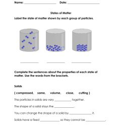 States of Matter online exercise for Class 3 [ 1291 x 1000 Pixel ]