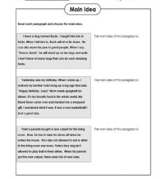 Finding the MAIN IDEA interactive worksheet [ 1291 x 1000 Pixel ]
