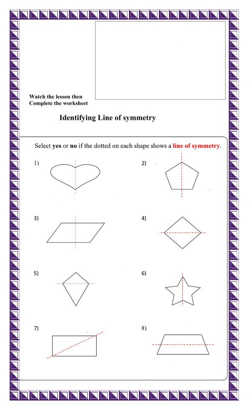 small resolution of Line of Symmetry interactive worksheet