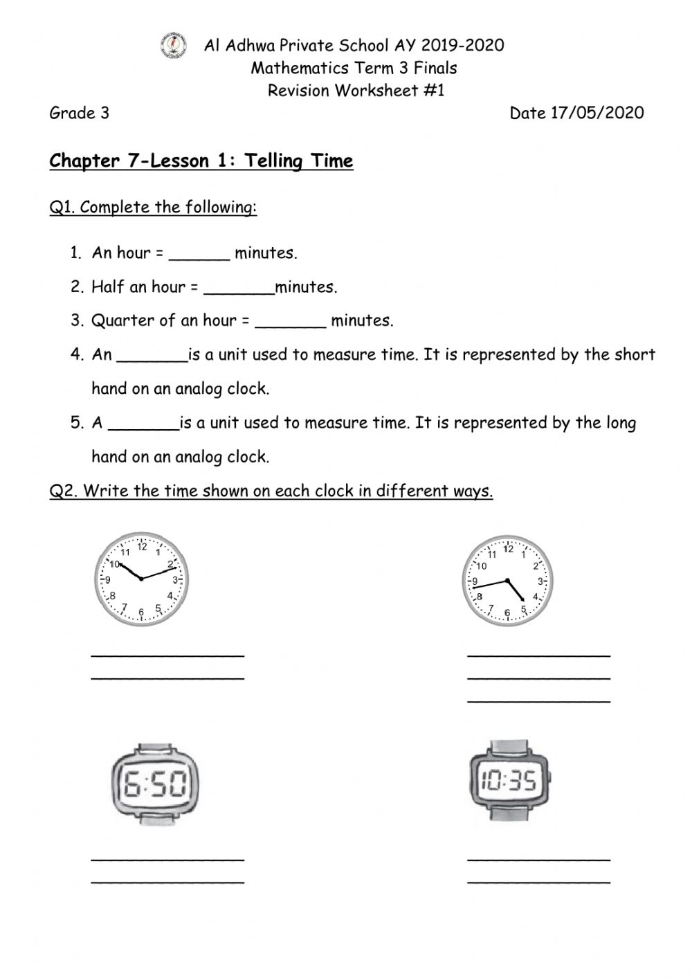 hight resolution of Telling Time Worksheet worksheet