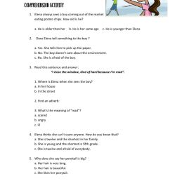 Reading comprehension online exercise for 6TH GRADE [ 1413 x 1000 Pixel ]