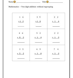 Two digit addition - without regrouping worksheet [ 1291 x 1000 Pixel ]