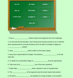 C2 education collocations phrasal verbs and expressions worksheet [ 1413 x 1000 Pixel ]